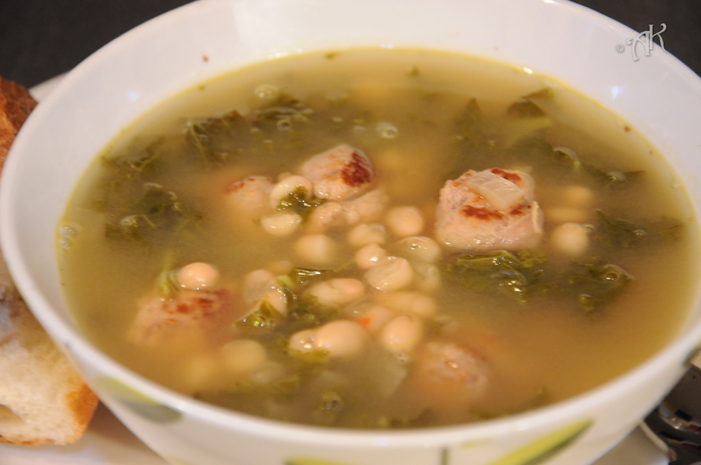 Turkey Sausage, White Bean and Kale Soup | Lemon Savory