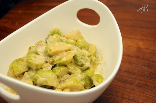 Cream Braised Brussels Sprouts 3